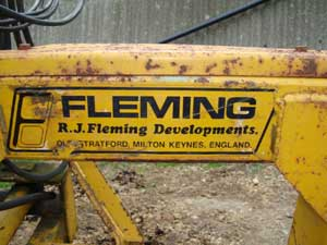 Fleming tractor backhoe
