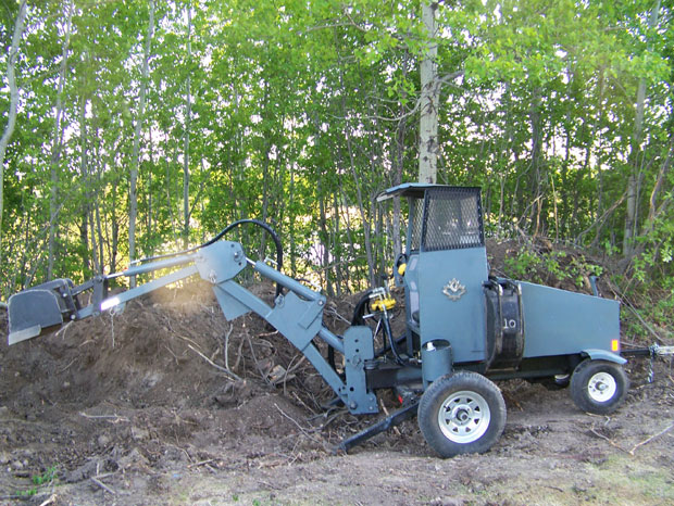 Homemade digger homebuilt backhoe